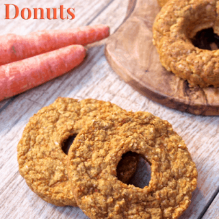 Carrot Cake Donuts...soft, cake-like donuts that are gluten-free, high protein, and made with whole grain goodness! No added sugar and bursting with fresh carrot flavor! A sweet treat or snack you can feel good about eating from <a href=