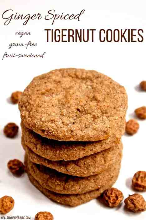 Soft Baked Ginger Spiced Tigernut Cookies from @Healthy_Helper ...