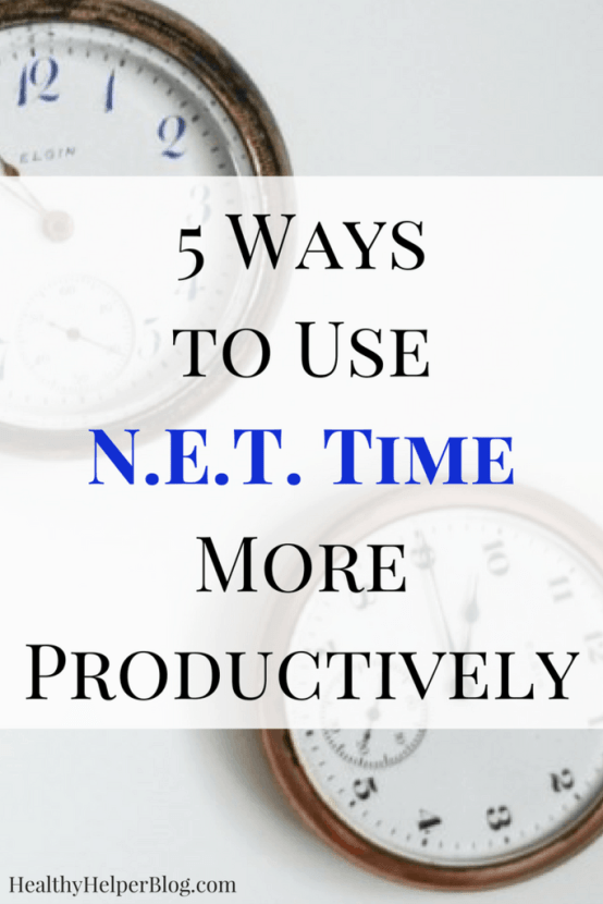 5 Ways to Use N.E.T. Time More Productively | Healthy Helper @Healthy_Helper Ever feel like you have no extra time to get things done in your busy day? Well, consider all those 'in-between' moments when you're standing in line or waiting in traffic. This post will help your optimize and maximize the way you use your N.E.T. time for ultimate productivity!
