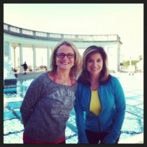 Kris and I at the Hearst outdoor pool where many celebs use to stay in the 1940's