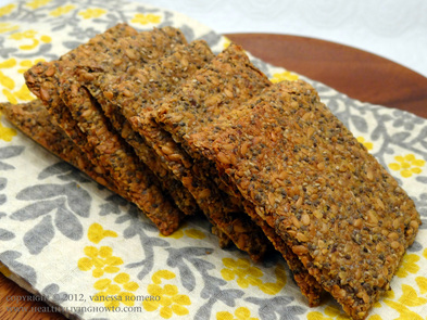 Gluten-Free Low-Carb Chia Flax Crackers Image