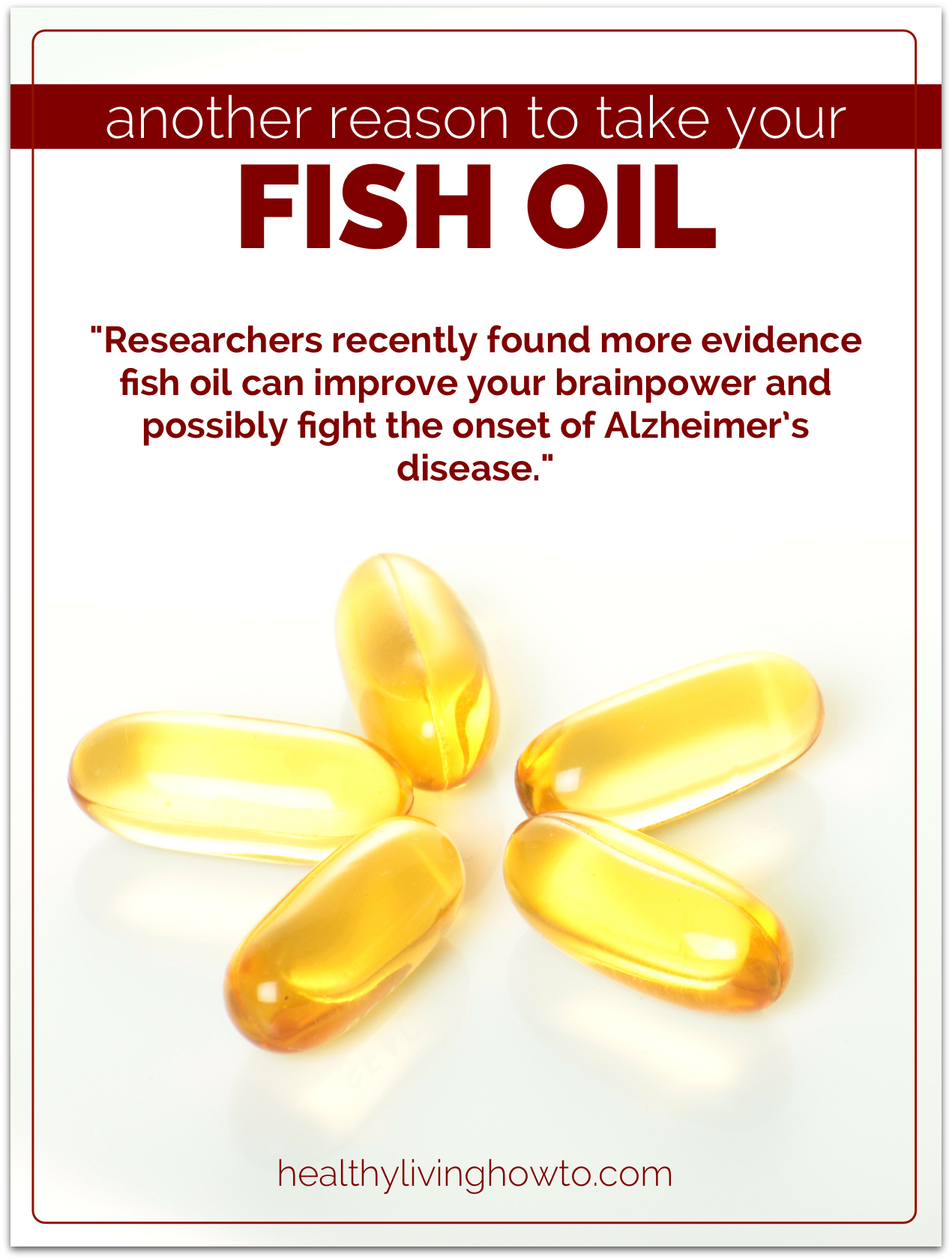 Another reason to take fish oil supplements for How much fish oil should i take daily