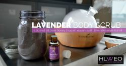Lavender Body Scrub | healthylivinghowto.com
