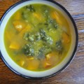 Kale, Quinoa, Chickpea, Sweet Potato Soup