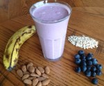 Blueberry Raspberry Breakfast Smoothie