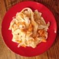 Sweet potato linguini, gluten free and vegan
