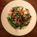 Green Beans, Carrot, Lentil Stir -Fry