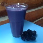 Vegan blackberries and cream smoothie