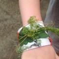 nature bracelet craft for kids