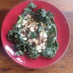 Crunchy Kale Salad With Almond Dressing