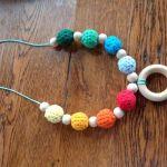Crochet teething necklace