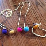 Felted Acorn Necklace