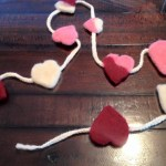 Felted Hearts Garland
