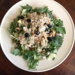 Goat Cheese, Cranberries and Quinoa Salad