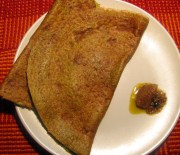 moong cheela/ dosa with amla pickle