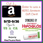 Hipoglos the makers of the baby ointment are giving one lucky reader a $250 Amazon gift card