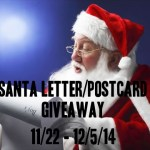 Enter to win the Santa Letter/Postcard Giveaway