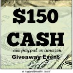 $150 Cash Giveaway Event via PayPal or Amazon