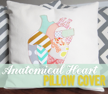 Anatomical Heart Pillow | www.heartsandsharts.com