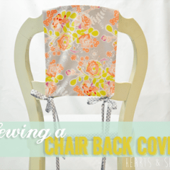 Sewing a Chair Back Cover | www.heartsandsharts.com