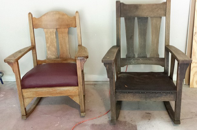 His & Hers Antique Rockers