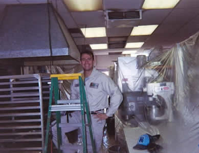 Gus Ruello, consulting technician, remediating this commercial establishment while protecting the environment from contamination.