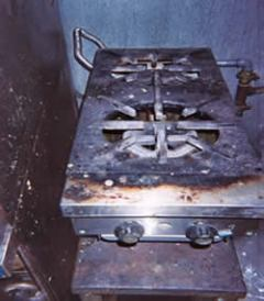 This greasy stove is a great food source for rodents and insects!