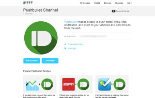 Pushbullet Channel   IFTTT