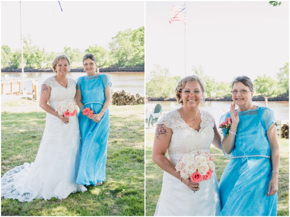south jersey wedding photographer, pink teal bridesmades, bridal party portraits,