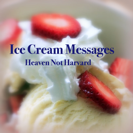 Ice Cream Messages