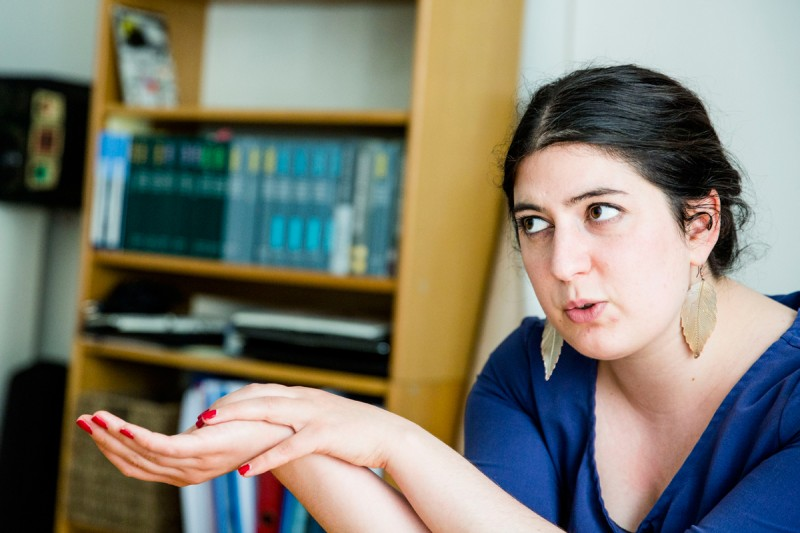 Yasmin Davali, head of the National Union of Students of Denmark, which opposes the reforms.