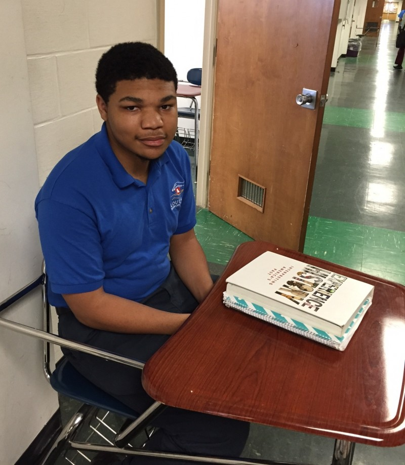 Eighteen-year-old Wellington Coleman studies at Southern University of New Orleans through a special program, and hopes someday to become a software engineer.