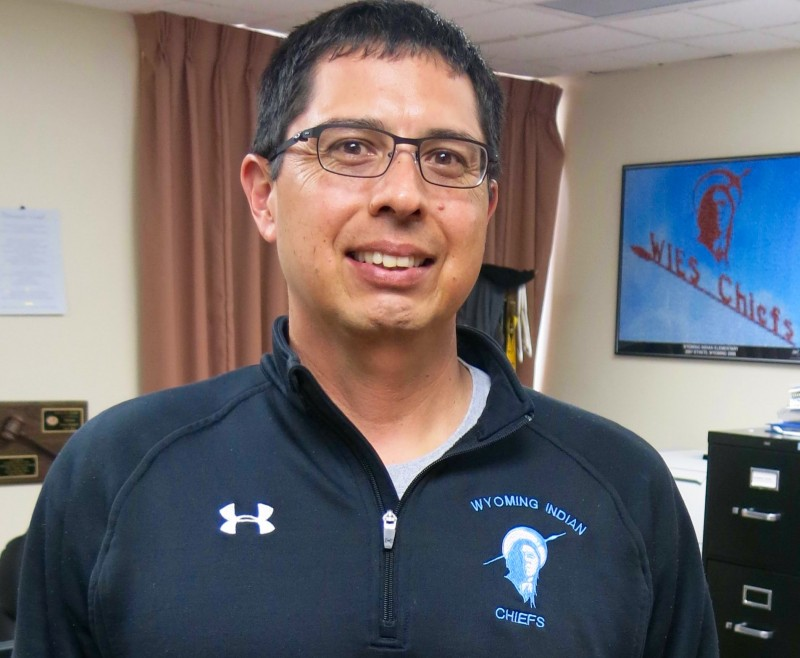 Owen St. Clair, longtime principle of Wyoming Indian Elementary School in Ethete, Wyoming, and new superintendent of Fremont County School District 14.