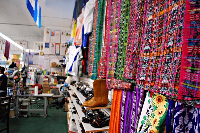 Brandon's mother owns an Oakland store selling items from back home in Guatemala. (Photo: Lillian Mongeau)