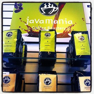 Our display for Javamania!