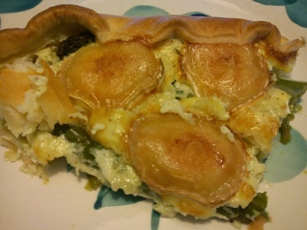 Spring Pie with Asparagus and Goats Cheese