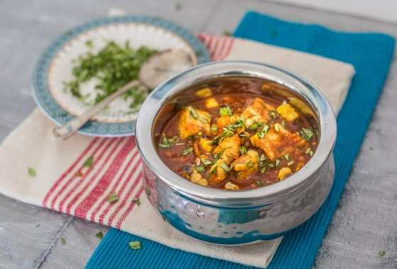 Pollock and Grilled Corn Curry
