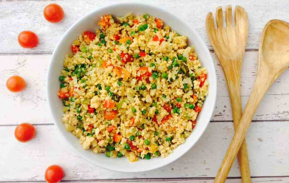 Egg fried cauliflower rice recipe