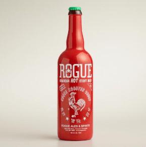 Pivo s pekočo čilijevo omako Sriracha