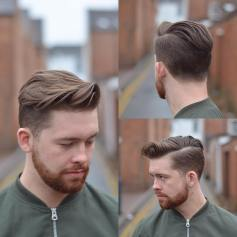Side Part Hairstyle with Movement and Flow