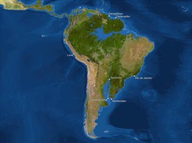 Kako bi bila videti Zemlja, če bi se ves led stalil: Južna Amerika