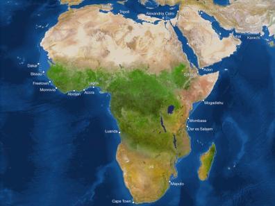 Kako bi bila videti Zemlja, če bi se ves led stalil: Afrika