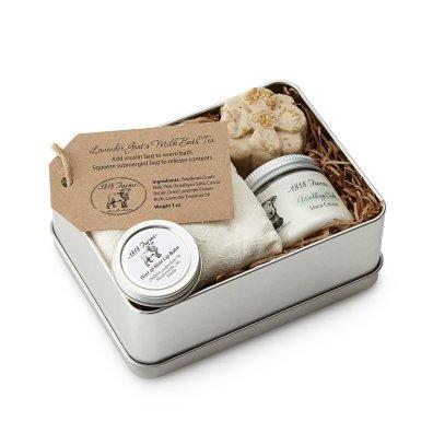 Škatla z doma narejenimi SPA izdelki (27 evrov)