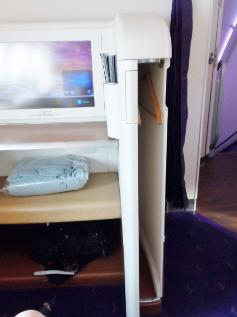 Thai Airways First Class A380 closet