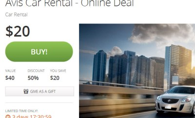 Avis Groupon Offer
