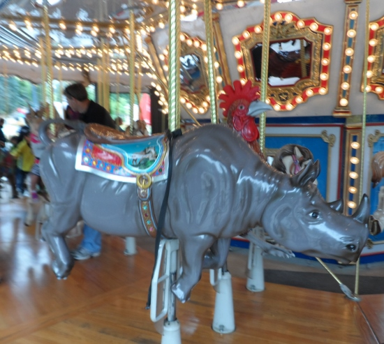 Henry Doorly Zoo & Aquarium rhino carousel