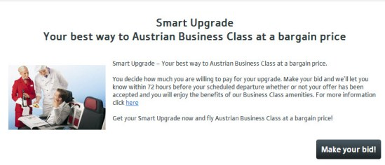 Austrian Airlines Smart Upgrade Program