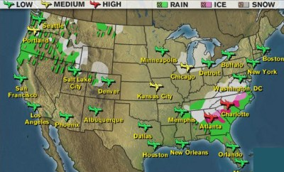 Airport Drinking Impact Weather Map