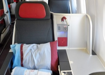 Austrian Airlines Business Class Seat Map