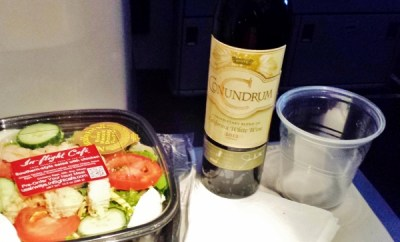 US Airways Premium Wine Conundrum White Blend Southern Style Salad